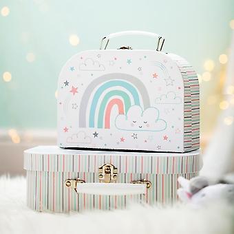 Baby Unicorn Suitcases - Set of 2 - Baby Shower Gift Nursery Decoration