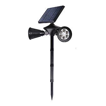 YANGFAN Solar Double-headed Human Induction Lawn Lamp