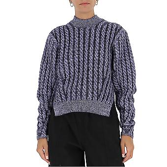 Chloé Chc20amp505904b6 Women's Blue Wool Sweater