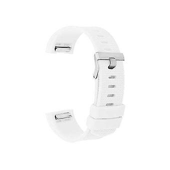 Watch strap for fitbit charge white silicone rubber sizes small and large