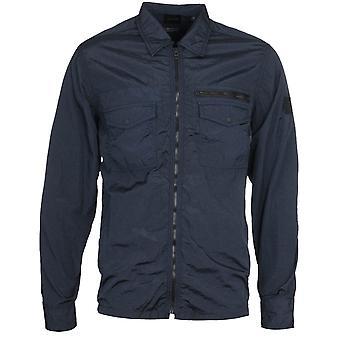 BOSS Lovel 3 Zip-Through Nylon Navy Overshirt