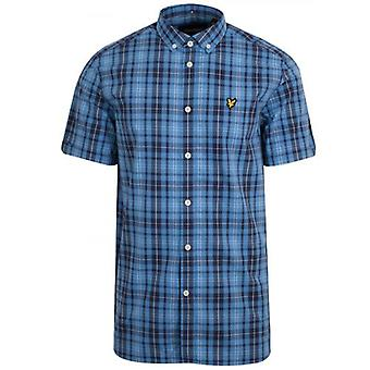 Lyle & Scott Blue Check Short Sleeve Shirt