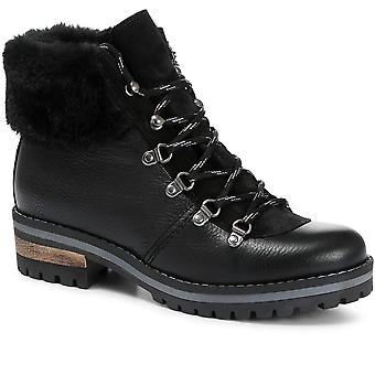 Jones Bootmaker Womens Leather Lace-Up Hiker Boot