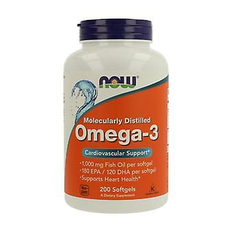 Omega-3 1000mg Molecularly Distilled 200 softgels of 1000mg
