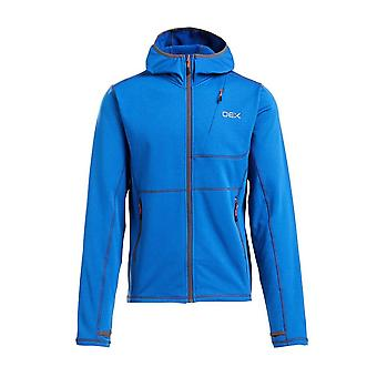 New Oex Men's Basalt Alpine Full Zip Hooded Sweatshirt Blue