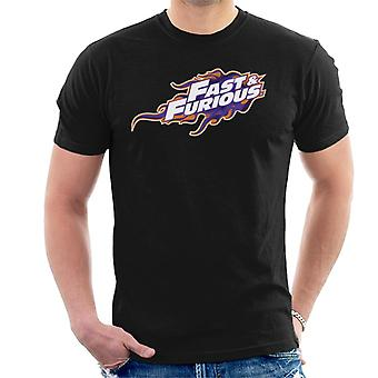 Fast and Furious Orange Purple Logo Homme-apos;t-Shirt