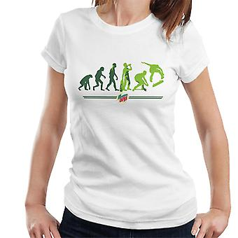 Mountain Dew Evolution Of A Skater Women's T-Shirt
