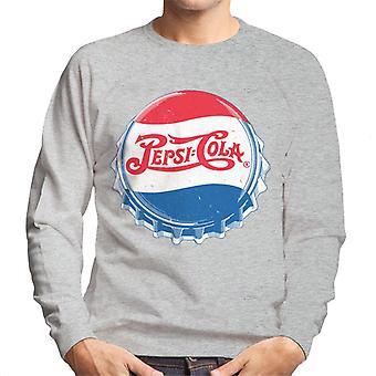 Pepsi Cola 1945 Distressed Bottlecap Men's Sweatshirt