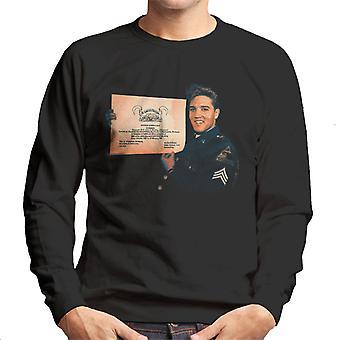 Elvis Presley US Army Certificate Men's Sweatshirt