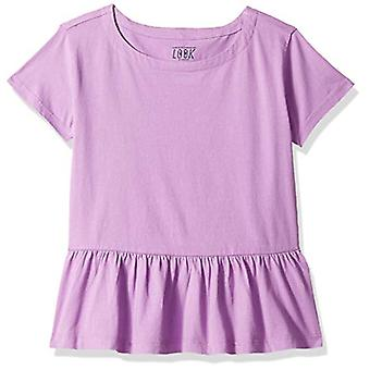 Brand- LOOK by Crewcuts Girls' Short Sleeve Peplum tee, Orchid, X-Smal...