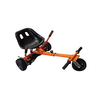 SILI® Off Road Suspension Kart for 2 Wheel Self Balance Scooter, Improved Design with Suspension Under Seat - ORANGE