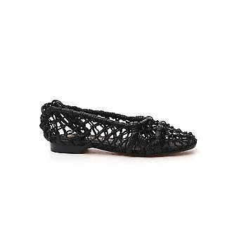 Tory Burch 71671004 Dames's Black Leather Flats