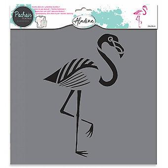 Aladine Textiel Stencil Flamingo