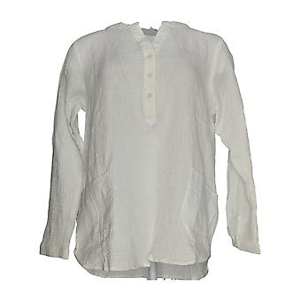 Joan Rivers Classics Collection Women's Top Crinkle Texture White A304205