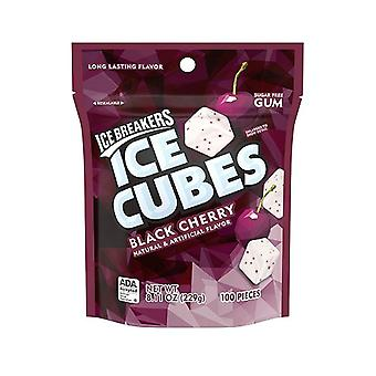 שוברי קרח קוביות קרח שחור דובדבן סוכר חינם מסטיק