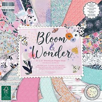 Première édition Bloom et Wonder 8x8 Pouces Paper Pad