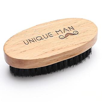 Natural Hemu Beard Brush For Men - Bamboo Face Massage