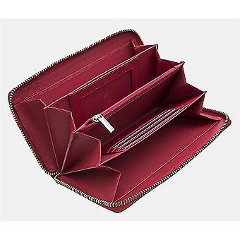 Primehide Womens Leder Geldbörse RFID Blockierung große Zip Runde Damen 431
