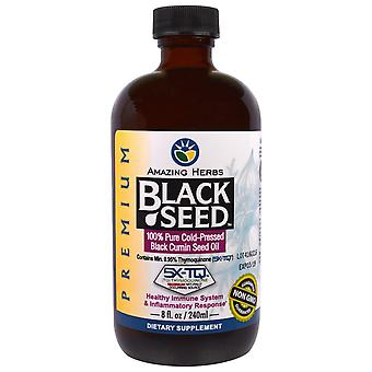 Amazing Herbs, Black Seed, 100% Pure Cold-Pressed Black Cumin Seed Oil, 8 fl oz