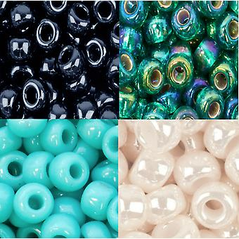 Miyuki Round Seed Beads 8/0 approx 1,100 beads. Choose from over 10 Colours