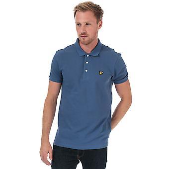 Men's Lyle y Scott Plain Polo Camisa en azul