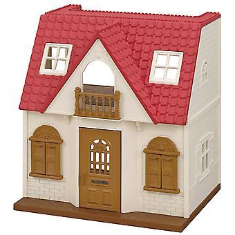 Rood dak gezellig huisje