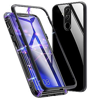 Metal and Glass Protection for Huawei Mate 20 Little Armor Shell Hard Protective Glass Black