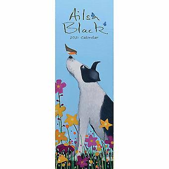Otter House 2021 Slim Calendar-ailsa Black