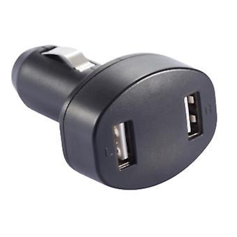 autolader met dubbele USB-poort 5V/2,4A ABS zwart