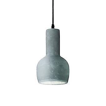Aceite Lux Ideal - 1 Techo Ligero Colgante Cemento Gris, E27