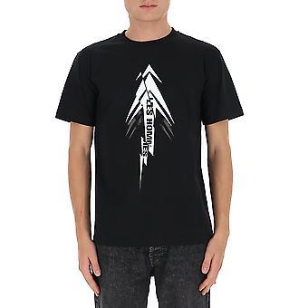Les Hommes Ljt206700p9000 Men's Zwart Katoen T-shirt