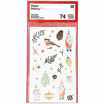 Christmas Craft Stickers Scrapbook x 74 Stickers