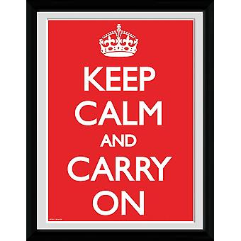 Keep Calm And Carry On Collector Print