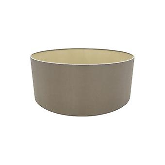 50 Cm Cylinder Fabric Lampshade Taupe/halo Gold
