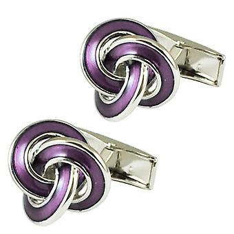 Ties Planet Lilac Knot Fashion Cufflinks