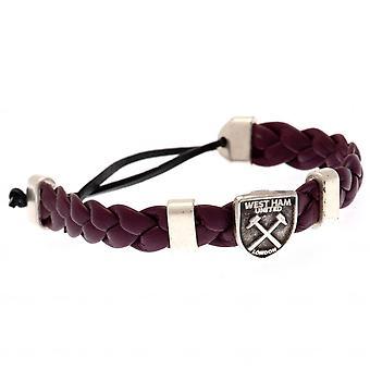 West Ham United FC Unisex Adult Slider Bracelet