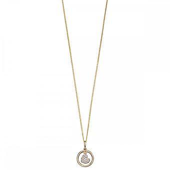 عناصر الذهب يتأرجح الماس قلادة القلب GP2125