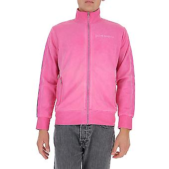 Palm Angels Pmbd001f20fab00330 Homme-apos;s Pink Cotton Sweatshirt