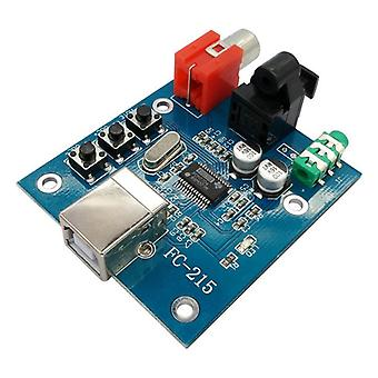 Audio Dac Usb To S/pdif Sound Card Hifi Decoder Board 3.5mm Analog Coaxial