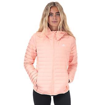 Damen's adidas Varilite Soft Hooded Daunenjacke in Pink