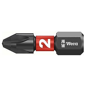 Wera 851/1 Impaktor Insert Bit Phillips PH2 x 25mm (Laatikko 10) WER057616