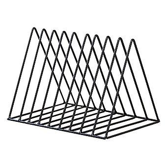 Iron Lp -levyteline - Kolmiokirja Magzine Holder Desk Storage Organizer