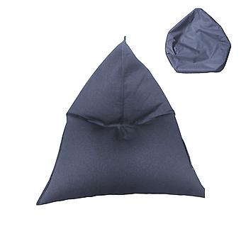Rebecca Furniture Coating Pouf Empty Bag Blue Polyester Hinge 50x110x130