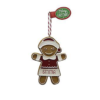 Figura de pan de jengibre EMMA colgante árbol de Navidad
