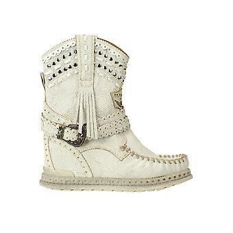 El Vacquero Ezgl585001 Women's White Leather Ankle Boots