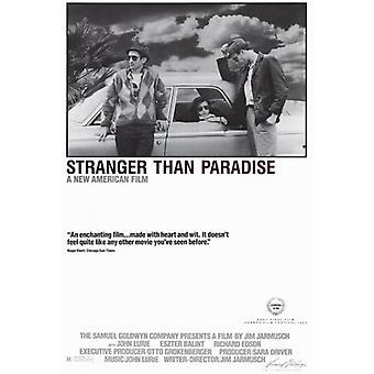 Stranger than Paradise Film Poster drucken (27 x 40)