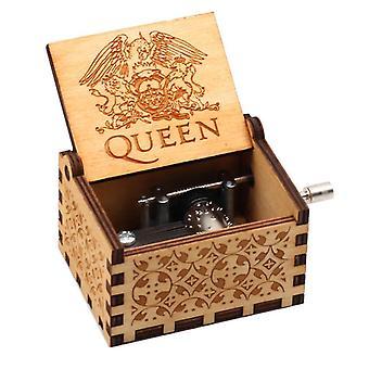 Antique Wooden Carved Music Box La Belle Et La Bte; Music Box Jurassic Park