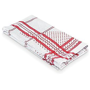 Polder Grip-Dry Dish Towel with Rubber Dots for Secure Drying & Hand Pockets Red