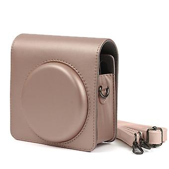 Pearly Lustre PU Leather Case Bag for FUJIFILM Instax SQUARE SQ6 Camera, with Adjustable Shoulder Strap(Light Brown)