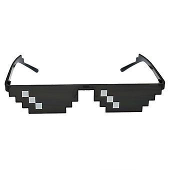 Sunglasses Pixelated Men Women Brand Party Eyeglasses Mosaic Uv400 Vintage